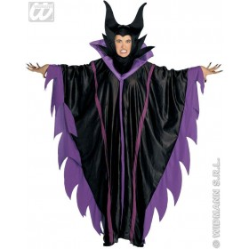 Malefizia Costume Adult Ppl/Blk Fancy Dress Costume (Halloween)