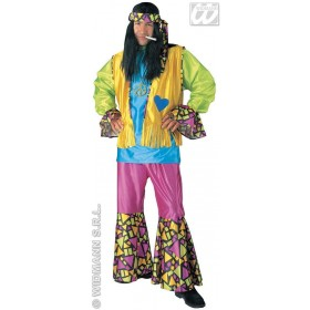 Hippie Boy Adult Fancy Dress Costume Mens (1960S)