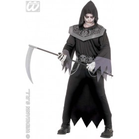 Skull Fighter Costume Adult 2St Fancy Dress Costume (Halloween)