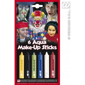 Aqua Makeup Sticks W/Dispenser - Fancy Dress