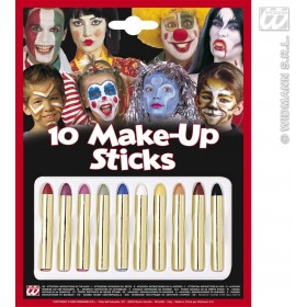 Makeup Crayons 10 Set - Fancy Dress