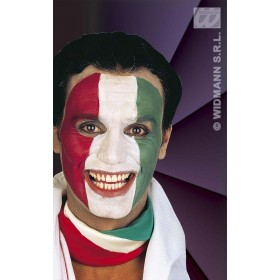 Tricolour Makeup Green//White/Red - Fancy Dress