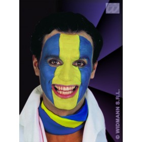 Tricolour Makeup Green/Yellow/Blue - Fancy Dress