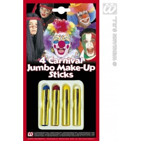 Makeup Sticks Jumbo 4 Colour - Fancy Dress