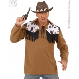 Cowboy Shirt Adult Fancy Dress Costume Mens (Cowboys/Native Americans)