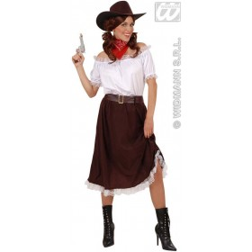 Cowgirl Instant Character Outfit Adult Costume Ladies (Cowboys/Native Americans)