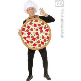 Round Pizza Costume - Adult Size Fancy Dress Costume (Food)