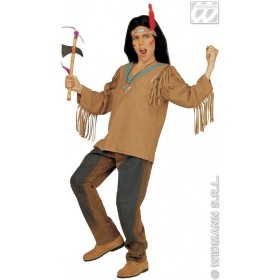 Apache With Coat, Headband With Feather Fancy Dress (Cowboys/Indians)