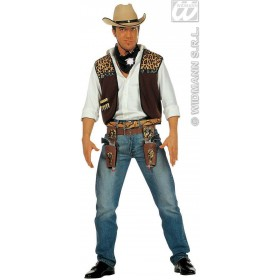 Cowboy Waistcoat With Bandana Fancy Dress Costume (Cowboys/Indians)