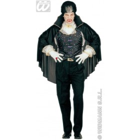 Xl Vampire Vest W/Cape 2 Styles - Fancy Dress (Halloween)
