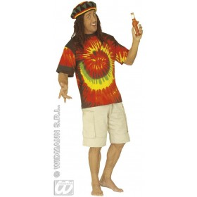 Tie Dye Tshirt Fancy Dress Costume