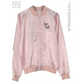Pink Ladies Jacket Satin Fancy Dress Costume
