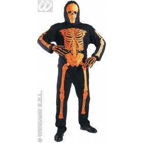 Neon Skeleton 3D Adult Fancy Dress Costume Mens (Halloween)