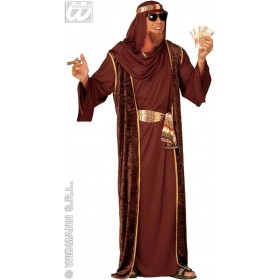 Arab Sheik Costume Adult Blk/Brn/Grn Costume Mens (Egyptian)