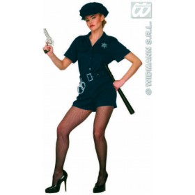 Cop Lady Adult Fancy Dress Costume Ladies (Cops/Robbers)