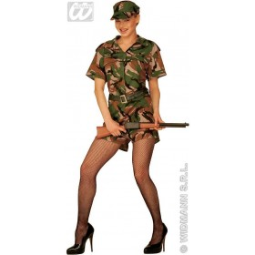 G I Jane Adult Fancy Dress Costume Ladies (Army)