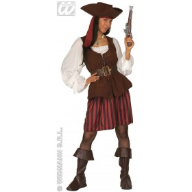 High Sea Pirate Woman With Dress W/Vest.. Fancy Dress (Pirates)