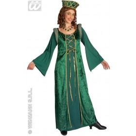 Lady Eleonora Green Dress Fancy Dress Costume Ladies
