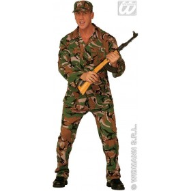G I Joe Adult Fancy Dress Costume Mens (Army)