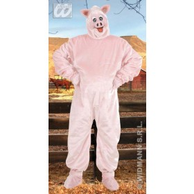 Plush Pig Costume Adult Fancy Dress Costume (Animals)