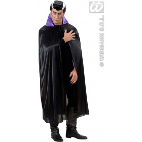 Black Cape W/Purple Collar Adult Size - Fancy Dress (Halloween)