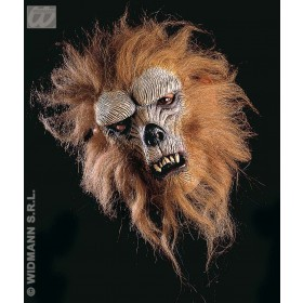 Werewolf Half Mask W Hair/Fur - Fancy Dress (Animals)