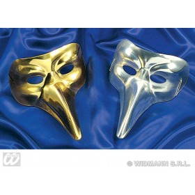 Venice Mask Plastic Gold/Silver - Fancy Dress