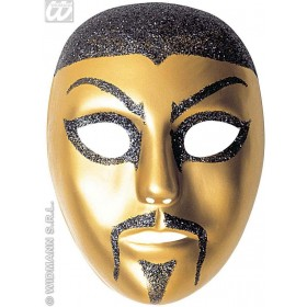 Glitter Chinaman Pvc Masks - Fancy Dress