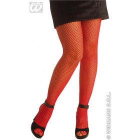 Fishnet Pantyhose Red - Fancy Dress (Christmas)