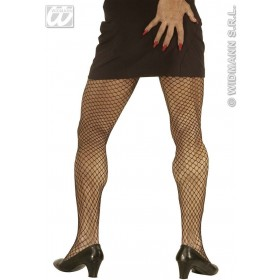 Xl Black Wide Fishnet Pantyhose - Fancy Dress