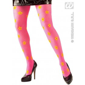 Neon Flower Pantyhose - Fancy Dress