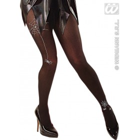 Pantyhose W/Spiderweb And Spiders Black - Fancy Dress