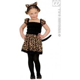 Beauty Leopard Dress, Ears 98, 104Cm Costume