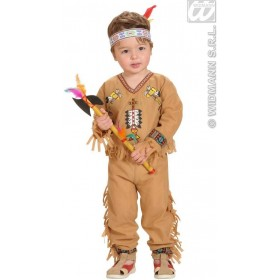 Indian Boy Coat,Pants,Headband 98, 104 Cm Costume (Cowboys/Indians)