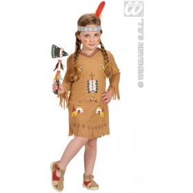 Native American Girl Dress,Headband 98, 104 Cm Costume (Cowboys/Native Americans)
