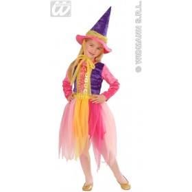Witch With 98-104Cm With Dress, Belt, Hat Fancy Dress (Halloween)
