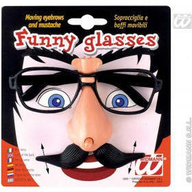 Funny Glasses W/Moving Eyebrow/Tash - Fancy Dress
