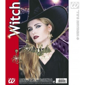 Witch Set Necklace Earrings - Fancy Dress (Halloween)