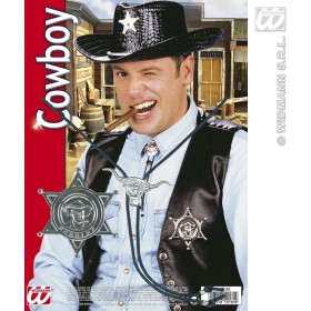 Cowboy Set Badge And Lace - Fancy Dress (Cowboys/Indians)