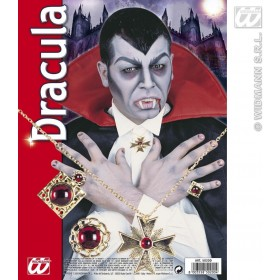 Dracula Set Necklace/Rings - Fancy Dress (Halloween)