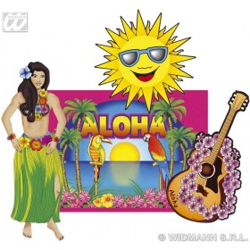 Hawaiian Decorations Set 50Cm - Fancy Dress (Hawaiian)