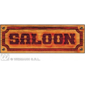 Saloon Sign 78X26Cm - Fancy Dress