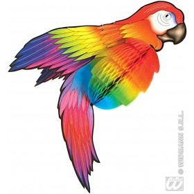 Giant Parrot 76Cm Honeycomb - Fancy Dress