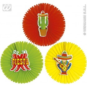 Mexican Paper Fans 55Cm - Fancy Dress