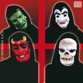Eva Hooded Horror Masks - 4 Styles Asstd Fancy Dress (Halloween)