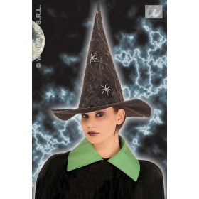 Witch Hat Felt W/Spiderweb / Spider - Fancy Dress (Halloween)