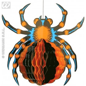 Neon Honeycomb Spiders 30Cm - Fancy Dress (Halloween)