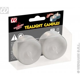 Light Up Tealight Candles White - Fancy Dress (Halloween)
