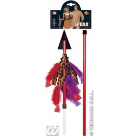 Native American Spear 125Cm - Fancy Dress (Cowboys/Native Americans)