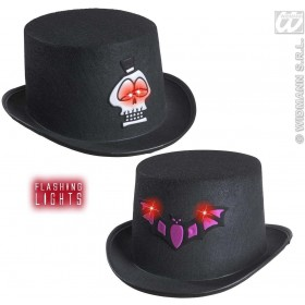 Felt Flashing Hall.Top Hat 2 Styles Ass. - Fancy Dress